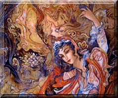 Rug Persian Tabriz Pictorial